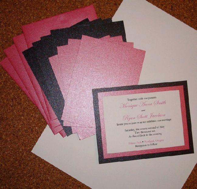 Cheap Wedding Invitation Ideas New 25 Best Ideas About Homemade Wedding Invitations On Pinterest