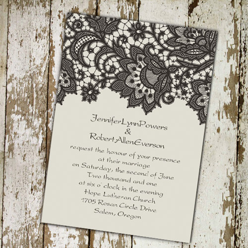 Cheap Wedding Invitation Ideas Unique Cheap Printable Lace Wedding Invitations at