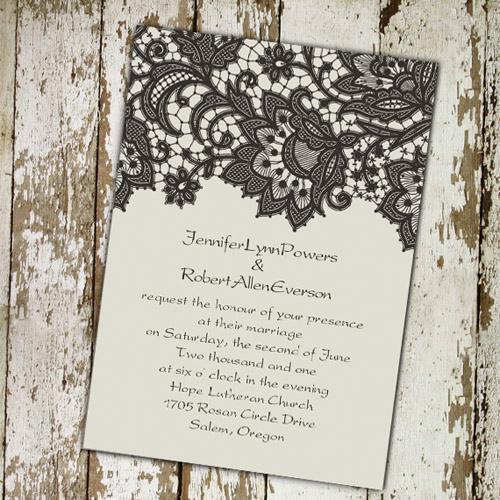 Cheap Wedding Invitation Ideas Unique Cheap Printable Lace Wedding Invitations at