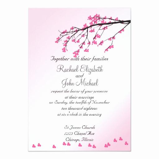 Cherry Blossom Wedding Invitation Beautiful Pink Cherry Blossom Wedding Invitation