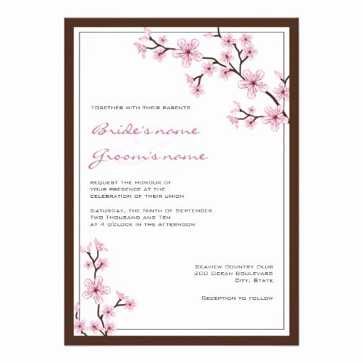 Cherry Blossom Wedding Invitation Best Of Cherry Blossom Wedding Invitations