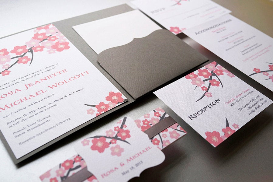 Cherry Blossom Wedding Invitation Best Of Wedding Invitation Cherry Blossom Pink Wedding Invitation
