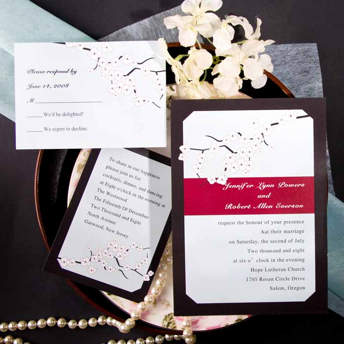 Cherry Blossom Wedding Invitation Inspirational Spring themed Wedding Invitations – Elegantweddinginvites