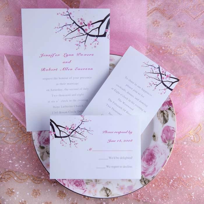 Cherry Blossom Wedding Invitation Inspirational Spring themed Wedding Invitations