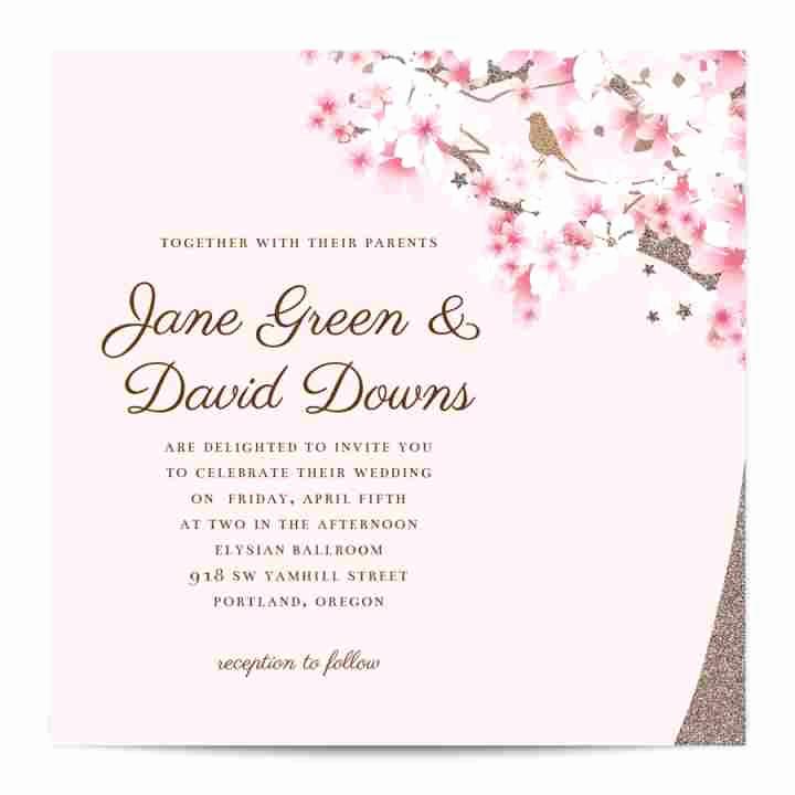 Cherry Blossom Wedding Invitation Lovely Cherry Blossom Invitation