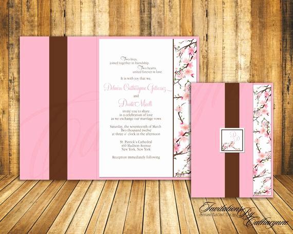 Cherry Blossom Wedding Invitation Lovely Cherry Blossom Wedding Invitations by Catharynne On Etsy