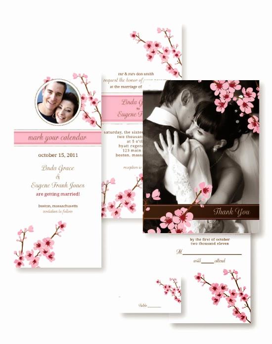 Cherry Blossom Wedding Invitation Lovely Cherry Blossom Wedding Invitations