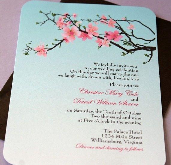 Cherry Blossom Wedding Invitation Luxury Best 25 Cherry Blossom Wedding Ideas On Pinterest