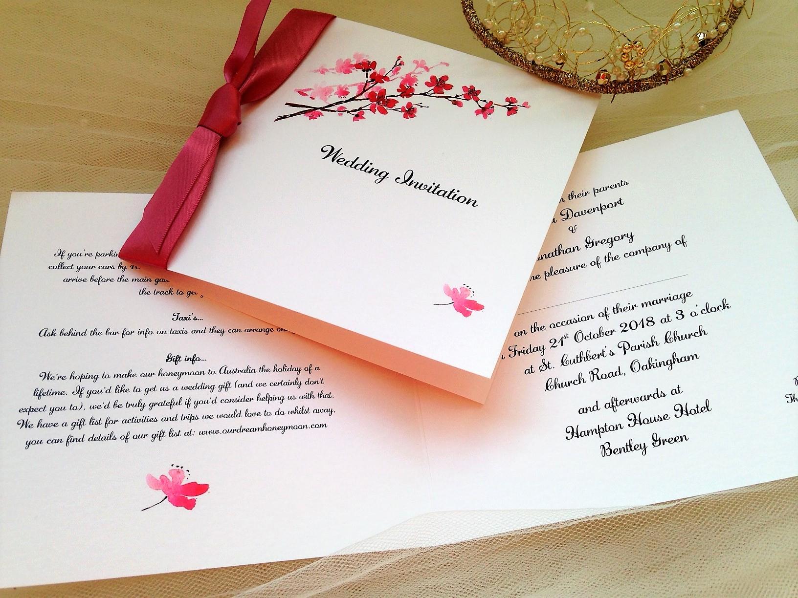 Cherry Blossom Wedding Invitation New Cherry Blossom Wedding Invitations
