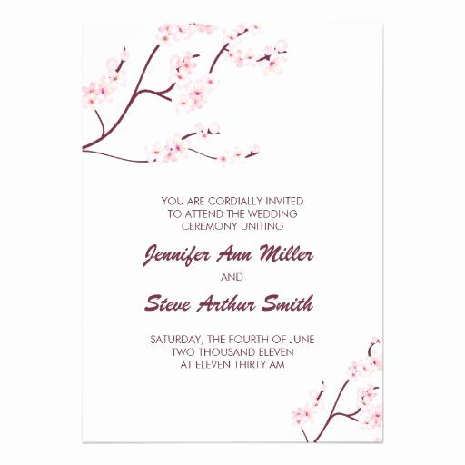 Cherry Blossom Wedding Invitation Unique Cherry Blossom Wedding Invitations