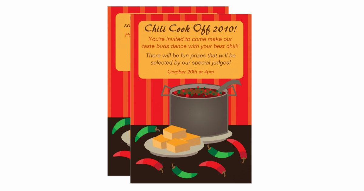 Chili Cook Off Invitation Awesome Chili Cook F Invitation Announcement