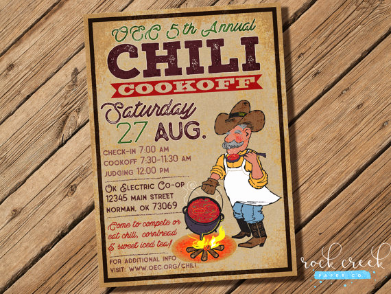 Chili Cook Off Invitation Best Of Chuckwagon Cookoff Invitation Chili Petition Chili Cook