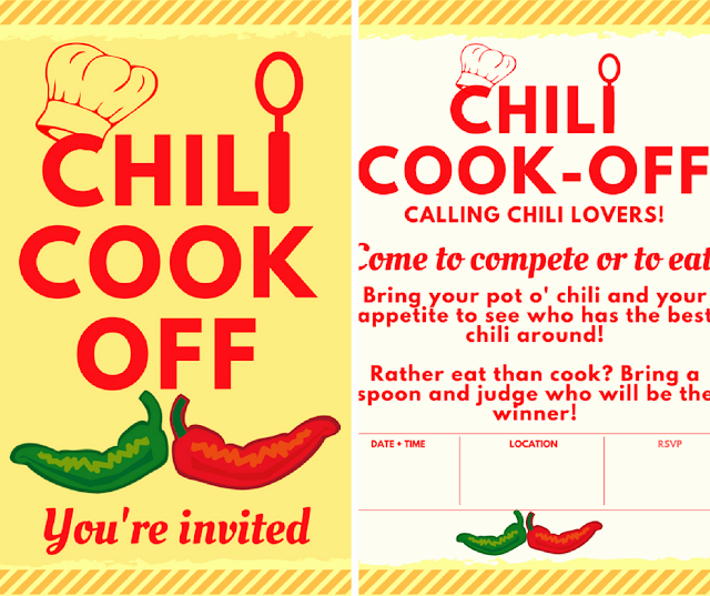 Chili Cook Off Invitation Fresh Chili Cook Off Insider Another Free Invite Scorecard