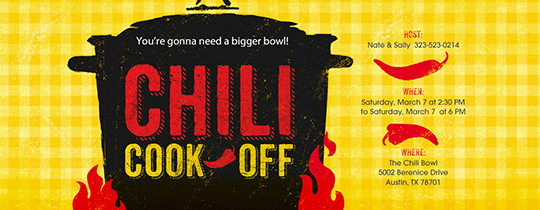 Chili Cook Off Invitation Fresh Invitations Free Ecards and Party Planning Ideas From Evite