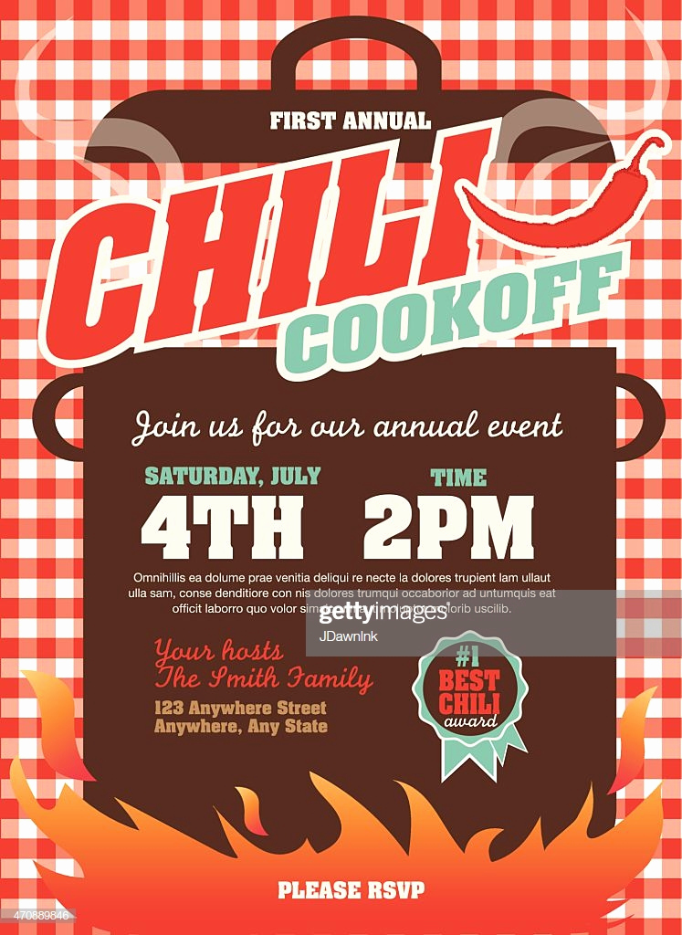 Chili Cook Off Invitation Luxury Picnic and Barbecue Chili Cookoff Invitation Design