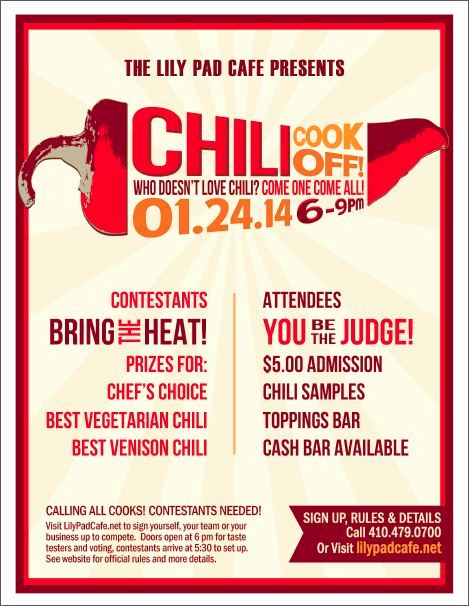 Chili Cook Off Invitation Template Elegant Chili Cook F Flyer Template Free Templates Resume