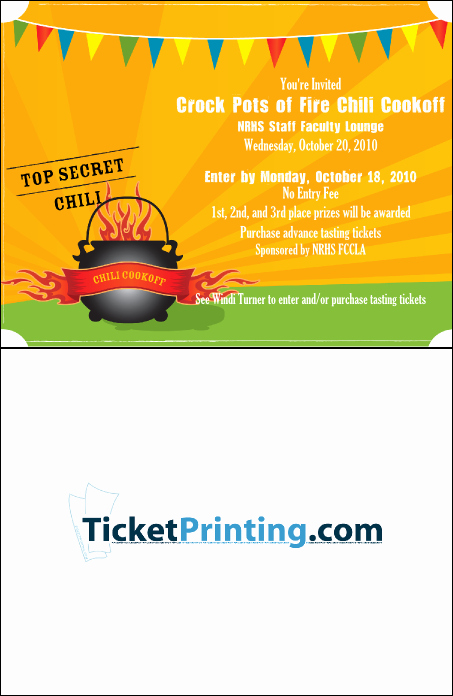 Chili Cook Off Invitation Template Inspirational Chili Cookoff Word Template