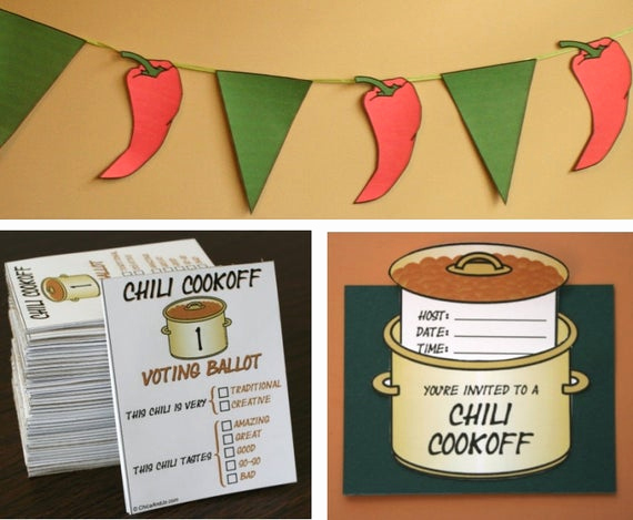 Chili Cook Off Invitation Template Lovely Chili Cookoff Printables Digital Invitation Voting
