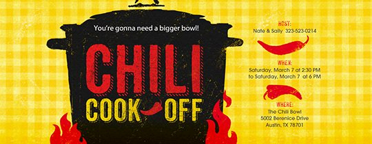 Chili Cook Off Invitation Template Luxury How to Throw A Chili Cook F Party Evite