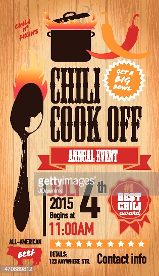 Chili Cook Off Invitation Template New Red Chili Cookoff Invitation Design Template Wooden
