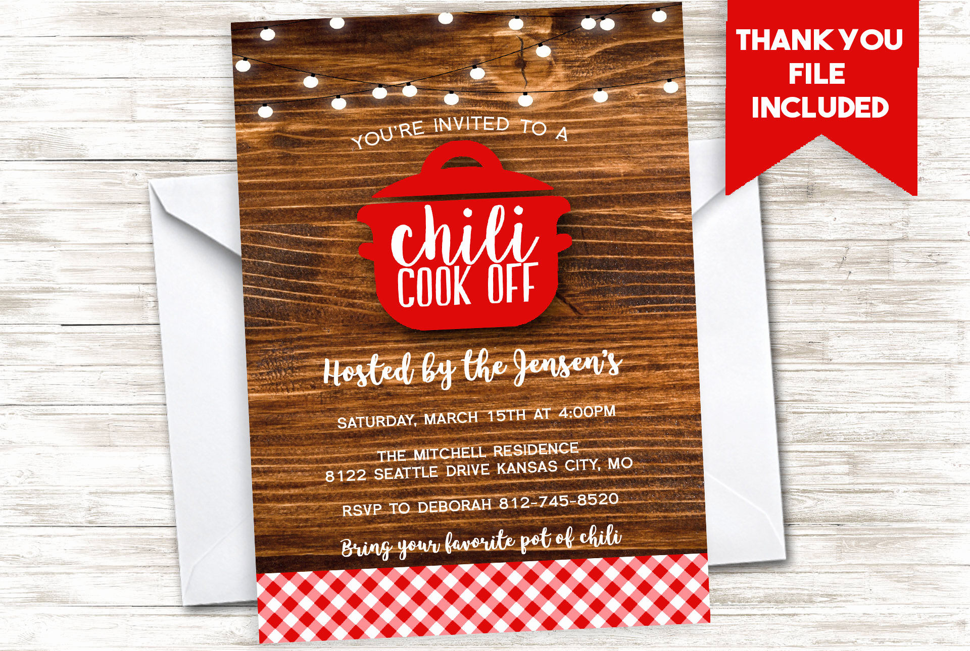 Chili Cook Off Invitation Template Unique Chili Cook F Invitation Announcement You are Invited