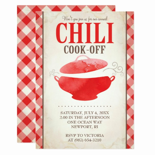 Chili Cook Off Invitation Unique Chili Cook F Invitations Bbq Invite
