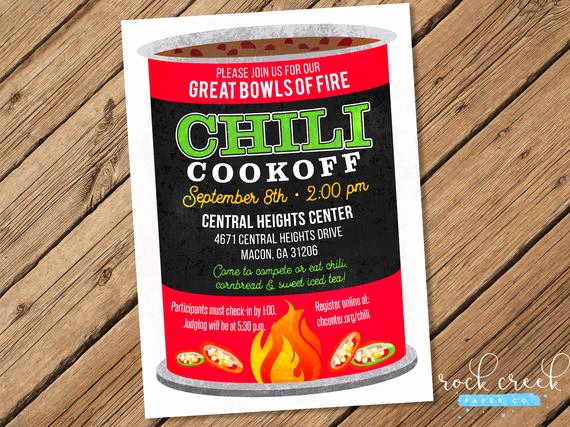 Chili Cook Off Invitation Wording Awesome Chili Can Invitation Chili Petition Chili Cook F