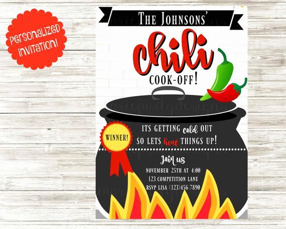 Chili Cook Off Invitation Wording Beautiful Chili Cook F Invitation