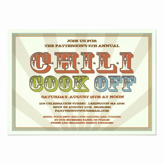 Chili Cook Off Invitation Wording Beautiful Good Old Fashioned Chili Cook F Party Invitation