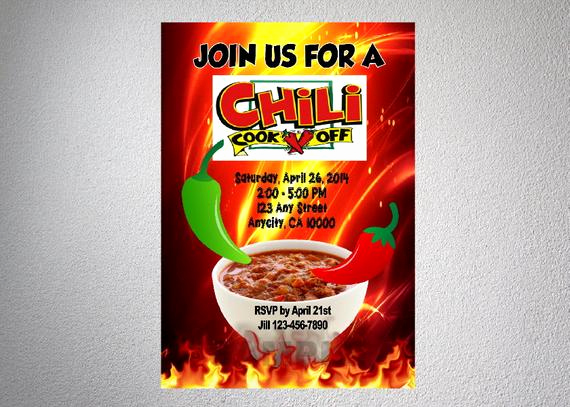 Chili Cook Off Invitation Wording Lovely Chili Cook F Invitation Chili Cookoff Bbq Invitation