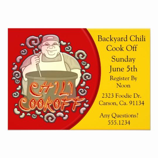 Chili Cook Off Invitation Wording New Chili Cook Off Chalkboard Party Poster Invitation