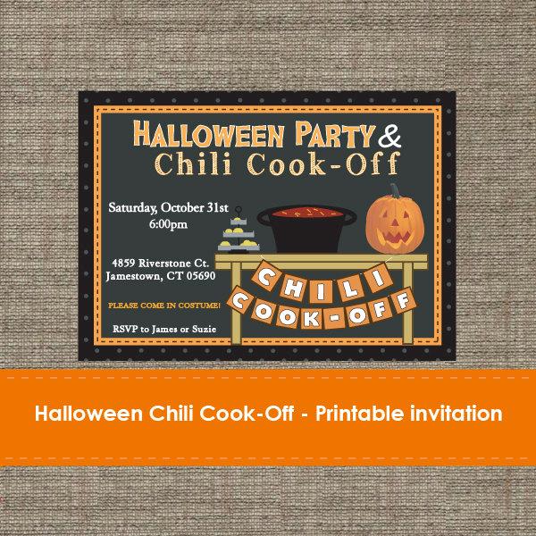 Chili Cook Off Invitation Wording Unique Halloween Chili Cook F Invitation Diy Printable
