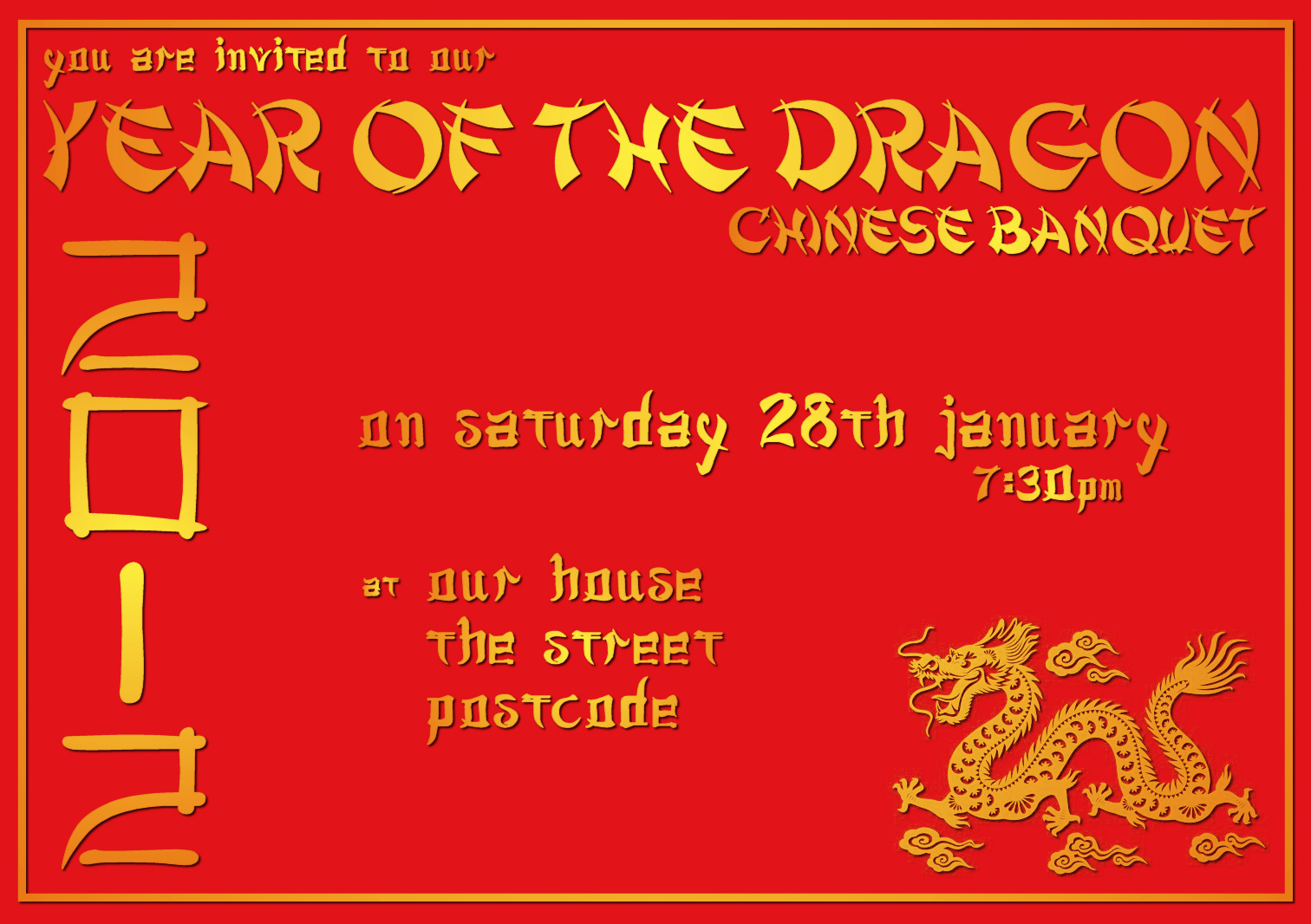 Chinese New Year Invitation Beautiful My Chinese Banquet Bringing It All to Her the