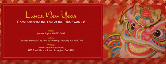 Chinese New Year Invitation Lovely Invitations Free Ecards and Party Planning Ideas From Evite