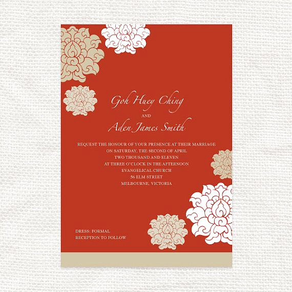 Chinese Wedding Invitation Card Elegant Best 25 Chinese Wedding Invitation Ideas On Pinterest