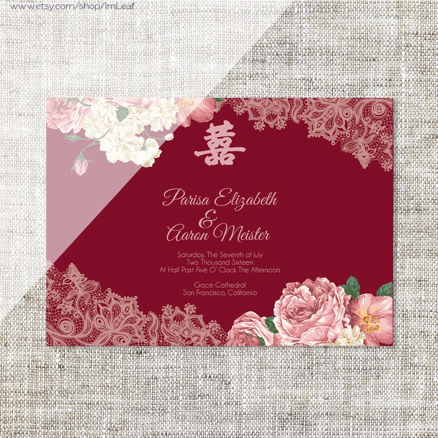 Chinese Wedding Invitation Card Lovely Diy Printable Editable Chinese Wedding Invitation Card