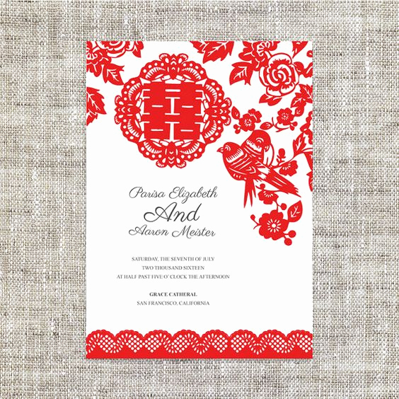 Chinese Wedding Invitation Card Lovely Diy Printable Editable Chinese Wedding Invitation Rsvp