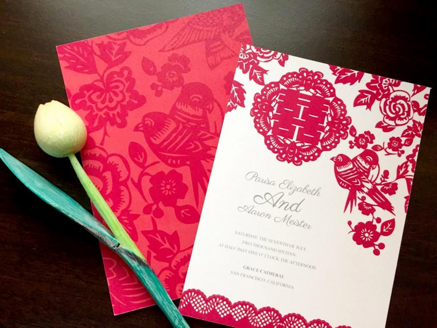 Chinese Wedding Invitation Card Luxury Diy Printable Chinese Wedding Celebration Invitation Card