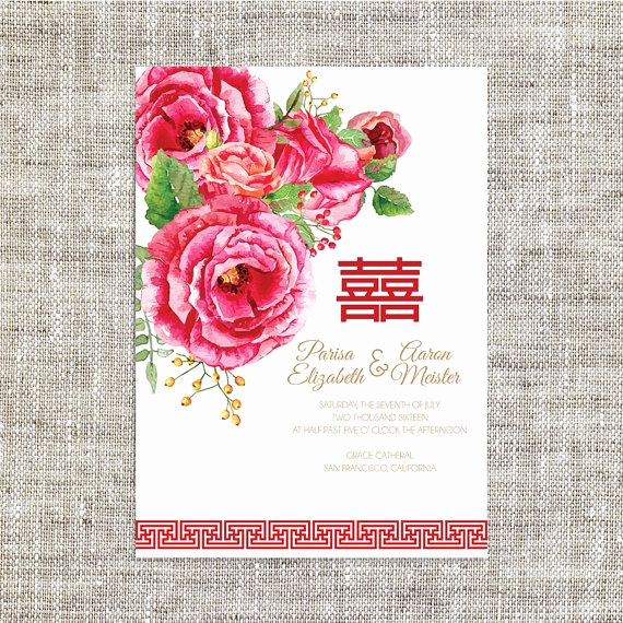Chinese Wedding Invitation Card Unique Best 25 Wedding Invitation Card Template Ideas On