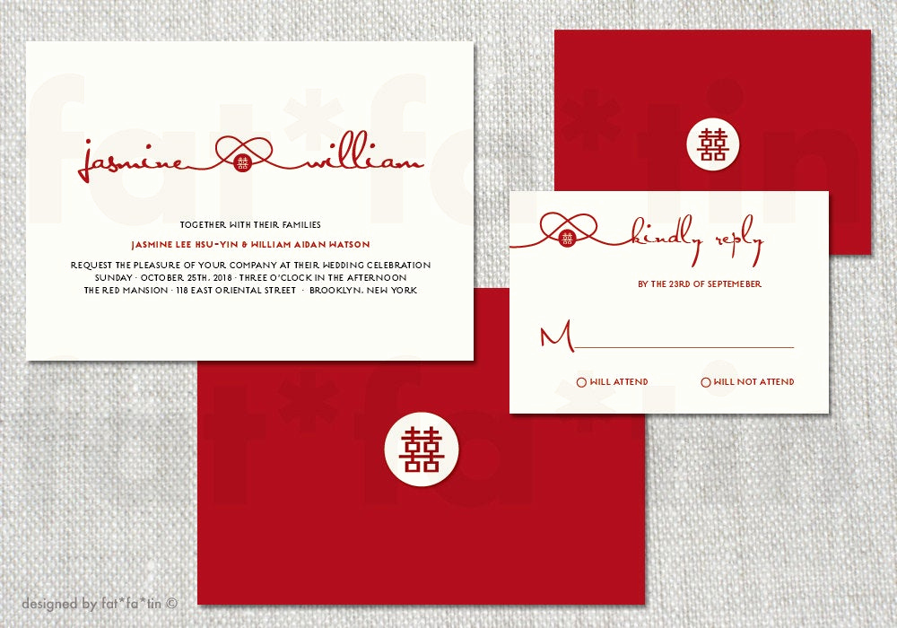 Chinese Wedding Invitation Template Best Of Printable Red Knot Double Happiness Chinese Wedding Invitation
