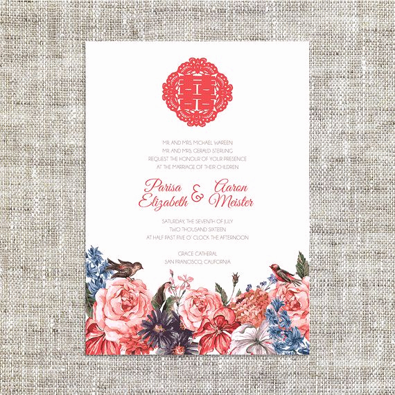 Chinese Wedding Invitation Templates Elegant Diy Printable Editable Chinese Wedding Invitation Card