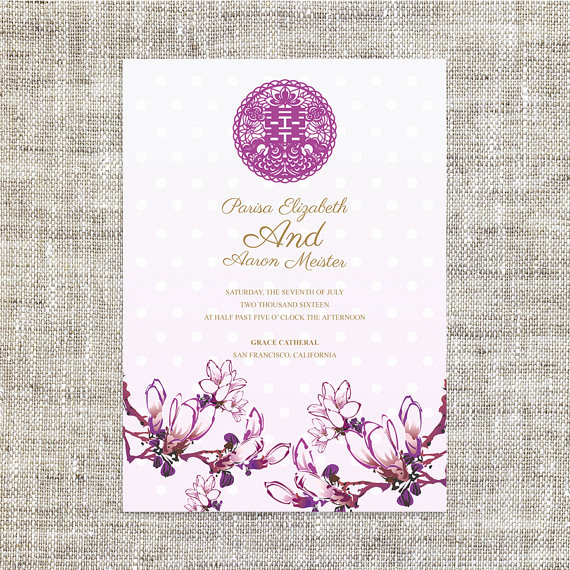 Chinese Wedding Invitation Templates Fresh Diy Printable Chinese Wedding Invitation Card Template Instant