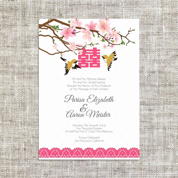 Chinese Wedding Invitation Wording Awesome Diy Printable Editable Chinese Wedding Invitation Card