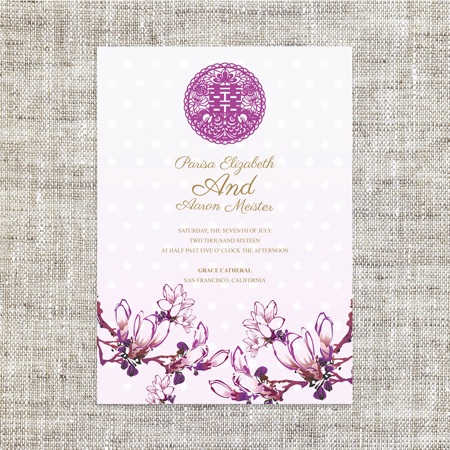 Chinese Wedding Invitation Wording Beautiful Chinese Wedding Invitation