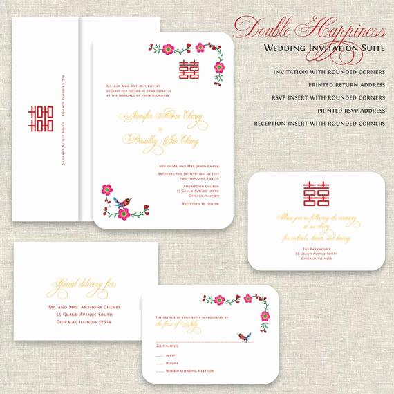 Chinese Wedding Invitation Wordings Inspirational Chinese Wedding Invitations Double Happiness Wedding