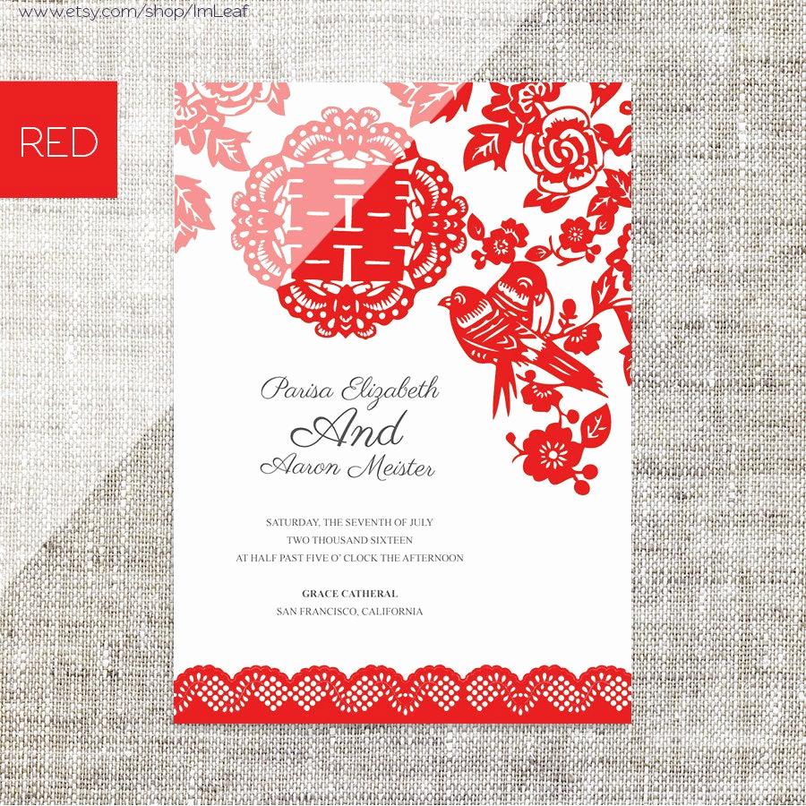Chinese Wedding Invitation Wordings New Diy Printable Editable Chinese Wedding Invitation Rsvp Card