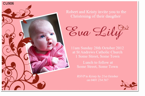 Christening and Birthday Invitation Best Of Cu906 Little Bird Birthday and Christening Invitation