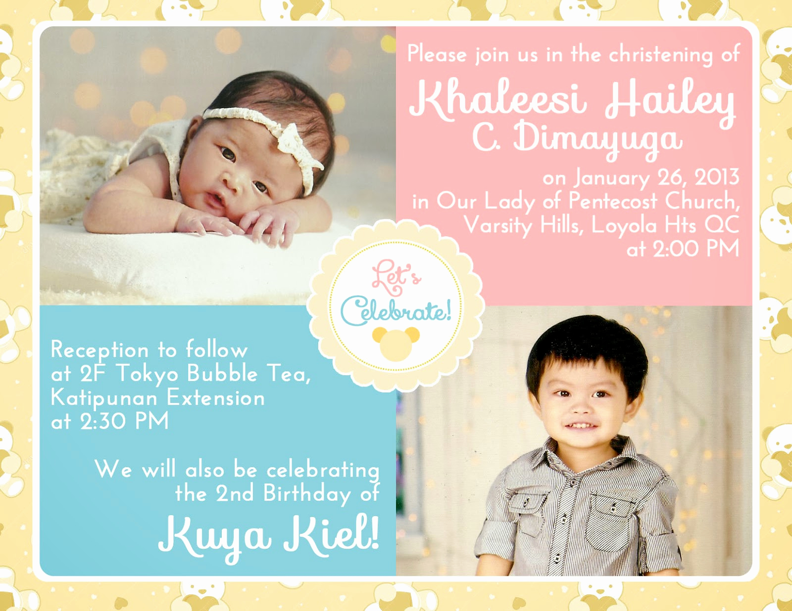 Christening and Birthday Invitation Best Of Lique S Antics Planning A Double Celebration Baptism and
