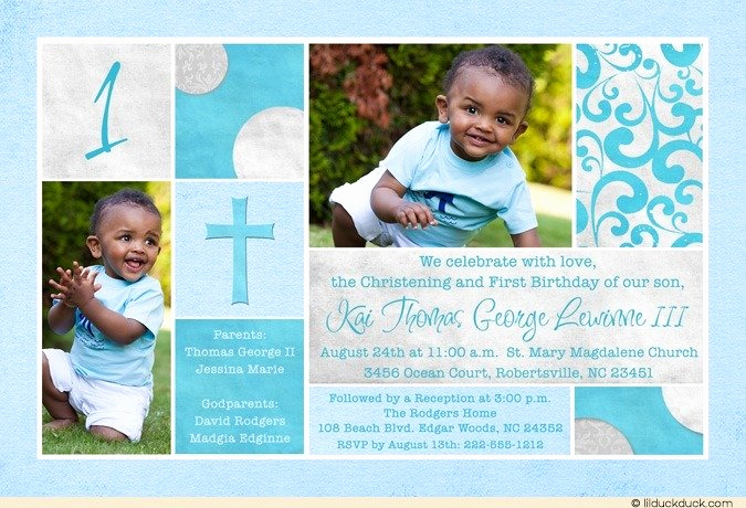 Christening and Birthday Invitation Fresh Free Printable First Birthday and Baptism Invitation