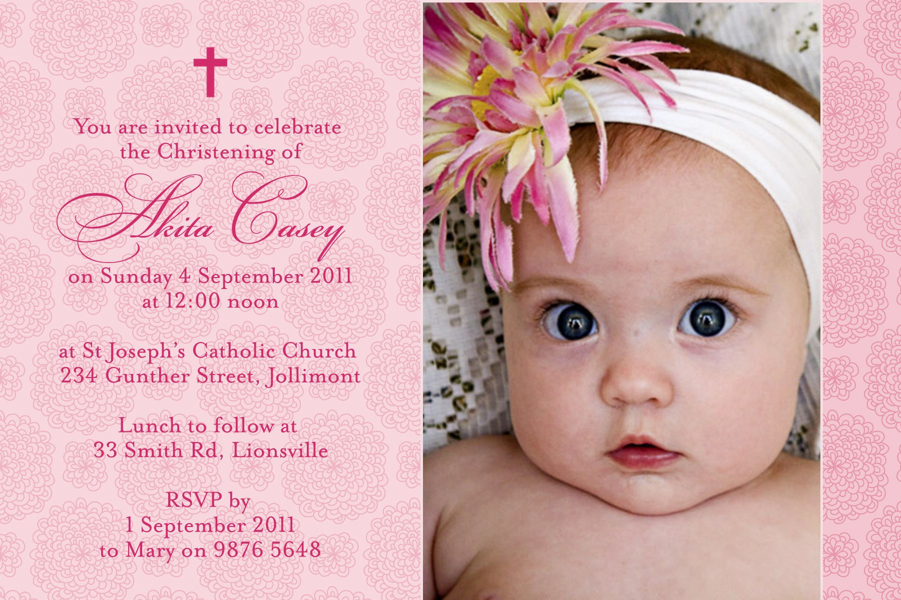 Christening and Birthday Invitation Luxury Baptism Invitation Baptism Invitations Baptism